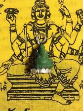 Ganesh Amulet Buddha Prayer Thailand Yoga Pendant Meditation Hindu Stone Jade