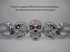 SKULL CAR FRAME w Harley Davidson logo colors or choose from 27 Eye Colors NICE