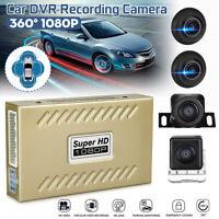 ☆Starlight Night Vision Camera☆ 360° Bird View Panorama System Car DVR Recording