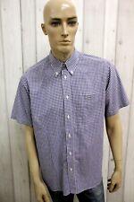 Camicia LACOSTE Uomo Shirt Casual Chemise Camisa Cotone Manica Corta Taglia XL