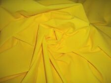 "5 yards x 58"" Lemon Yellow Stretch Nylon Blend Fabric (Little stretch)"