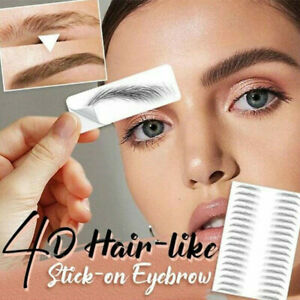 11 Pairs Bionic 4D Brows Patch Natural Tattoo Stickers Semi Permanent Eyebrow A+