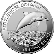 1 Ounce Silver Proof High Relief Bottlenose Dolphin 5 $ Australia 2019