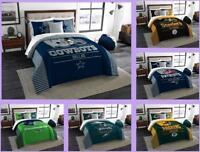 NFL Licensed 3 Piece King Comforter & Sham Bed Set In A Bag - Choose Your Team