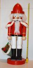 "Steinbach Unique Huge 32"" / 82cm  Santa w/ Bag Nutcracker Hand Made Wood Germany"