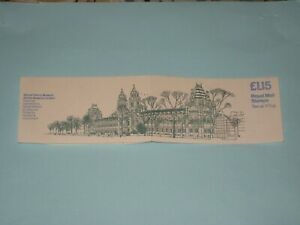 1981 FI3A £1.15 Cylinder Folded Booklet Museums: Natural History Museum