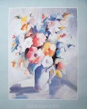 Michel Boulet, Les Fleurs D'ete, floral poster, 61cmx76cm, flower spray poster