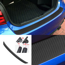 4D Car Rear Bumper Trunk Tail Lip Sticker Decal Carbon Fiber For For Frod Fusion