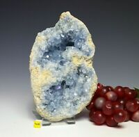 Spectacular Celestite Celestine Crystal Cluster Geode -Raw Mineral Healing 1964g
