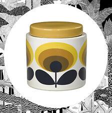Orla Kiely 70er Jahre Oval Blumen Vorratsglas Topf Gelb Retro Kanister Küche