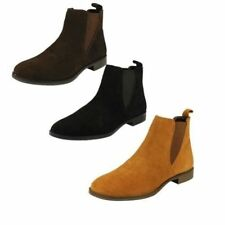 Suede Slip On Ankle Boots for Women