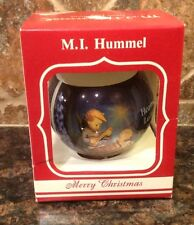 M. J. HUMMEL GLASS ORNAMENT 1988 ars edition Heavenly Lullaby 6th ANNUAL EDITION