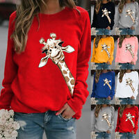 Women's Christmas Jumper Pullover Loose Sweatshirt  Xmas Blouse Tops Outwear