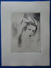 "Marie LAURENCIN : ""Jeanne"" EAU-FORTE ORIGINALE # Marchesseau 165"
