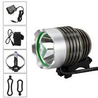 5000LM MTB T6 LED Front Bicycle Head Lamp Bike Light Headlight Battery Pack Set