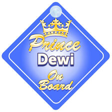Crown Prince Dewi On Board Personalised Boy Car Sign Child Gift