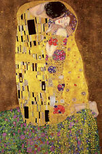 Klimt The Kiss Poster! Golden Period Art Gilded  Nouveau Gold Leaf Never Hung!