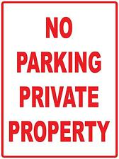 NO PARKING PRIVATE PROPERTY - METAL SIGN - 300 X 225MM - PROPERTY SIGN