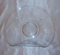 Vintage Etched Elegant Glass Plate