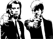 Pulp Fiction Tarantino Movie Wall Art Sticker - Travolta and Jackson - Free Post