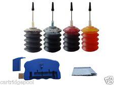 Chip resetter + refill ink kit for Epson 126 T126:WF630 633 635 7510 4x30ml