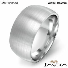 10.5mm Men Wedding Band Solid Dome Comfort Fit Ring Platinum 26.4g Size 12-12.75
