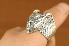 limited edition Fine 925 Silver Hand Carving evil person man Ring