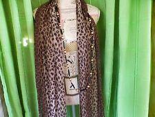 lot=léopard ,longue écharpe 2m,60x0,40 et collier sautoir