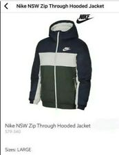 Nike Sportswear Synthetic Fill Thermal Insulation Hooded Jacket Mens Size: Large
