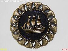 steampunk brooch badge pin bronze ship pirate Black sails assassin's creed