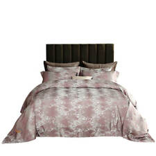 Duvet Cover Set, 6 Pc Fitted Bedding, Luxury Jacquard Cotton, Dolce Mela Dm714Q