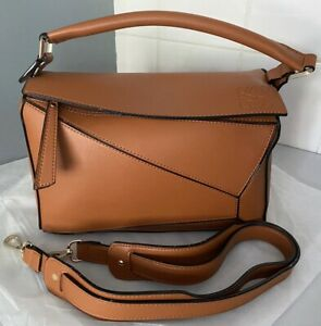 Inspired Design Loewe Puzzle Bag In Brown Colour Medium Size