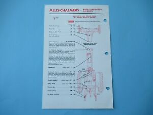 Allis Chalmers 170 180 tractor lubrication guide chart