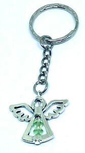 August Peridot Birthstone Guardian Angel Keyring lucky bag charm keepsake gift