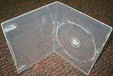 100 ULTRA SLIM 4MM CLEAR SINGLE DVD CASE BOX BSL1