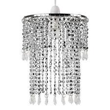 Modern Chrome Ceiling Pendant Light Shade Chandelier Acrylic Jewel Lampshade