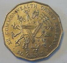 50 cents Australie 1982 XII. Commenwealth Games Brisbane Elizabeth II Australia
