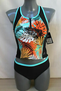Girls Gerry 2 Piece Swimsuit Top, Bottom & Peppermint Tankini Set Age 12
