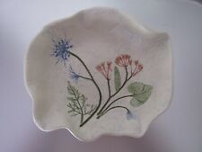 Folk Art Marsh Pottery Bowl by ELLYN Wild Flower Bouquet Hand Crafted USA