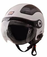 ORIGINE BLUETOOTH GLOSSY WHITE SOLID OPEN FACE MOTORCYCLE HELMET DOT XS - XL