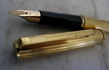 RARE STYLO PLUME PARKER 85 FLORENCE PL. OR - PLUME EN OR MASSIF 18 CARATS