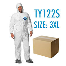 Case of 25 Dupont Tyvek Coverall Bunny Suite with Hood and boots - TY122S / 3XL