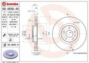 Pair Brake Discs Brembo Front For Fiat 500L (351,352) 1.3 D Multijet