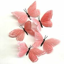 Feather Butterflies Style 2 x 5 Pack - Coral