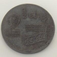 1941 Netherlands 2 1/2 Cents Copper Penny Uncirculated Nederlanden Coin F508