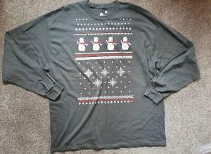 Gorgeous Dark Grey Christmas Snowman/Space Raiders Top size XXL