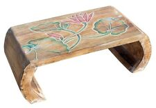 Opiumtisch Beistelltisch Blumentisch Brücke Handarbeit hell Lotos bunt Tisch 15S