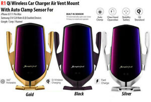 Qi Handy Halterung Auto KFZ Induktions Ladegerät Clamping Car Wireless Charger