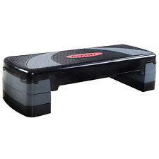 "31'' Fitness Aerobic Step Adjust 4"" - 6"" - 8"" Exercise Stepper w/Risers"