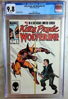 Kitty Pryde and Wolverine #3 1985 CGC 9.8 NM/MT White Pages Comic P0022